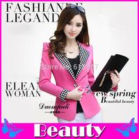 2014 new blazer women Long-sleeved Slim blazer feminino Work clothing blaser fashion women blazers and jackets