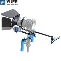 Express Delivery RL-00II DSLR Rig Kit Shoulder Mount Dslr Camera Stabilizer+ Follow Focus + Matte box SLR Movie Photography Kit
