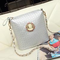 2014 women's handbag vintage knitted  chain bag
