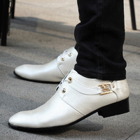 Classic New England style fashion men's shoes pointed personalized fashion business men . Free Shipping