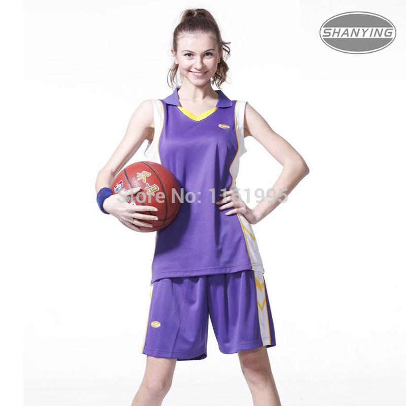 Girls female set Women basketball clothing woman uniforms basketball competition women's clothing(China (Mainland))