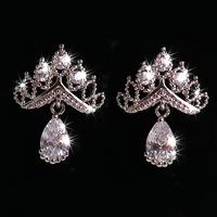 Big Promotion Wholesale Dangle Earring for Women/Girls Earrings 925 Sterling Silver Wedding Jewelry White Earrings