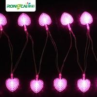 Led sweet heart  love battery lighting string flasher Christmas copper wire string light 4M 40 beads RGB