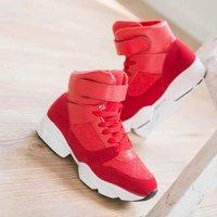 2014 autumn and winter women's velcro shoes scrub breathable high shoes casual shoes platform shoes platform