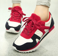 Free shipping Autumn and winter lacing platform agam platform wedges casual sports shoes running shoes single women's shoes