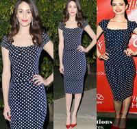 2014 fashion one-piece pencil skirt dress fashion slim short-sleeve patchwork dot one-piece dress