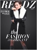 Fashion autumn 2014 autumn winter women's trench slim medium-long coat outerwear formal woolen cardigan for women