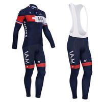 NEW 2014 IAM Team cycling jersey long sleeve cycling clothing/ cycling wear bib short suit-IAM Quick Dry S-4XL