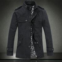 2014 autumn new coat of high quality men's fashion casual windbreaker jacket
