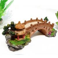 Mini Tank Aquarium Fish Turtle Ramp Creepiness Platform Pier Rest Bridge L19cm* W8.5cm*H6.5cm free shipping