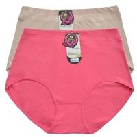 4 high waist plus size 100% cotton panties women's 100% quinquagenarian mm cotton briefs breathable cotton fabric