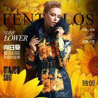 Free shipping fashion luxury high quality plus size thickening slim medium-long down coat female large fur collar