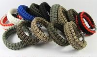 6pcs/lot Mens Paracord Rope Tactical Survival Bracelet Airsoft Camping