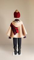 Wd-440 child autumn and winter female child woolen cloak woolen cape outerwear collcction children's clothing