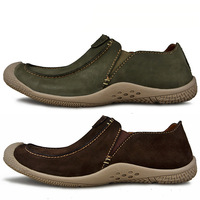 2014 fashion male cowhide suede casual shoes genuine leather soft outsole breathable shoes Moccasins shoes