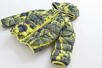 Wd-084 male child fashion print plus velvet thickening wadded jacket child wadded jacket winter