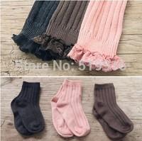 Female child pantyhose legging sock set children's clothing amber