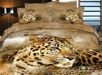3d 100% activated three-dimensional cotton print piece set princess bedding 100% cotton four piece set bedding lion