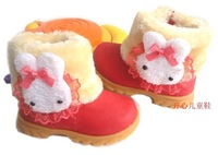 2014 New Child snow boots personality lobbing ball snow boots boys girls shoes winter boots