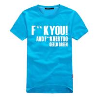 men  Summer justin bieber t shirt 100% cotton lovers fxxk you geelo green  6XL  5XL 4XL plus size big loose factory cheap