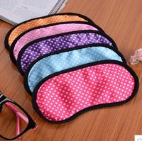 5 Pcs! Lovely Satin Eye Mask Eyeshade Sleeping Eye Mask Cartoon Blindages Small Dot