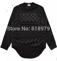2014 Fashion high street hip hop autumn and winter space cotton long-sleeve T shirt for men star sweatshirt