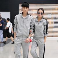 Jiesen autumn lovers design sweatshirt set male casual sports set sweatshirt outerwear