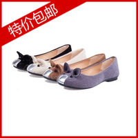 2014 spring and summer flat cartoon mouse single shoes velvet flat heel round toe popular hot-selling women's shoes