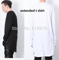 2014 new fashion hip hop long sleeve t shirt for men oversize extended long t-shirt pyrex hba swag skateboard tee