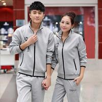 Jiesen 2014 spring and autumn set lovers sweatshirt set sports set female male sweatshirt outerwear