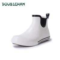 Doublehan brank 2014 fashion lovers short design low light women rain boots rainboots rubber water shoes