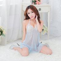 Lingerie nightgown set lace gauze transparent temptation charming