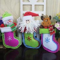 2014 New Fashion Christmas gift three-dimensional christmas deer snowman decoration christmas socks gift