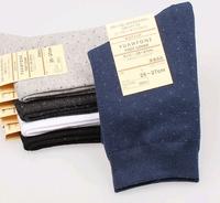 Free shipping Men's commercial socks  cotton fashion dot sports knee-high socks