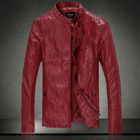 Fur Male Leather Clothing High Quality PU Leather Jacket PU Winter Mens Leather Jacket