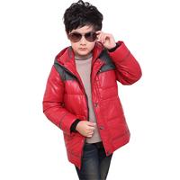 Free shipping retail Child down coat male long design fashion white duck down coat