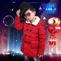 Free shipping retail Winter child down coat male child medium-long children's clothing down coat