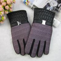 2014 men's gloves Winter plus velvet thickening thermal male gloves ride car motorcycle slip-resistant large cotton gloves