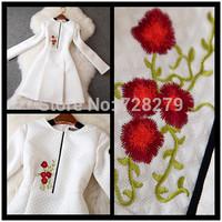 2014 Autumn fashion Vintage elegant Jacquard Embroidery slim long-sleeve Dress
