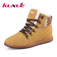 High fashion designer brands outdoor woman shoes slip-resistant winter warm tassel boots