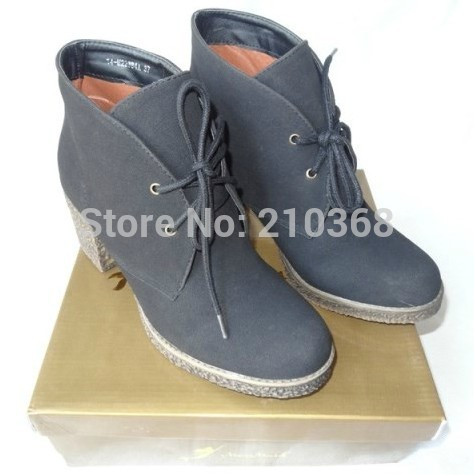 Free Shipping! spring and autumn boots lacing thick heel cow muscle platform sports boots plus size boots N-X-1563(China (Mainland))