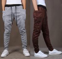8 Colors 2014 Unique Pocket Mens Jogger Pants Cargo Sweatpants Men Outdoors Jogging Sport Pants Hip Hop Dance Harem Pants Men