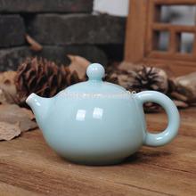 Boutique porcelain tea set ceramic tea pot Chinese Longquan celadon pot blue with infuser 150ml fine china on sales promotion