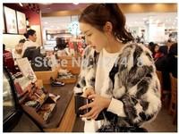 2014 Winter warm Women's Faux Rabbit Fur Coat women winter Coat Medium-long Fur Coats Plus Size Overcoat