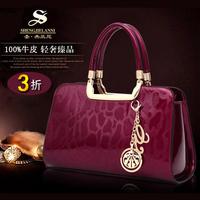 HOT!New 2014 fashion women genuine leather handbags famous brand cowhide handbag one shoulder bag messenger bag tote lady purse
