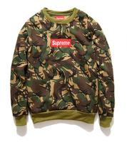 Fashion hiphop street HARAJUKU male women's Camouflage fleece skateboard o-neck sweatshirt