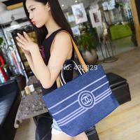 2014 autumn paragraph fashion women's  large capacity Denim Embroidery handbag messenger bag