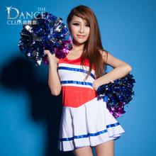 Flower one piece cheerleading clothes callisthenics costume cheer leader cheerleading captain alegrar-lider