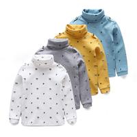 Child basic turtleneck shirt children's clothing cartoon bear 2014 100% cotton female child baby male child long-sleeve T-shirt