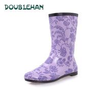 Fashion 2014 light rain boots fashion lace women's knee-high rainboots water shoes rubber shoes